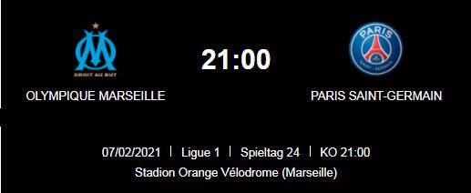 Wett Tipp Olympique Marseille PSG 07 02 20