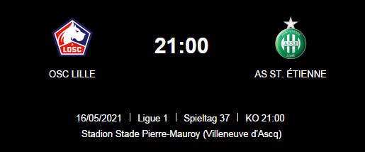 Wett Tipp Lille St Etienne 16 05 21