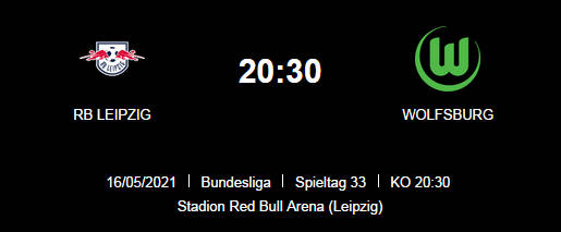 Wett Tipp RB Leipzig VfL Wolfsburg 16 05 21