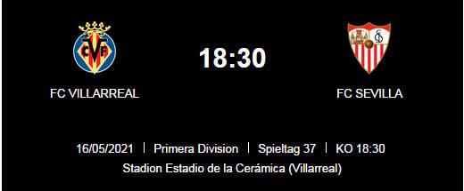 Wett Tipp Villarreal Sevilla 16 05 21