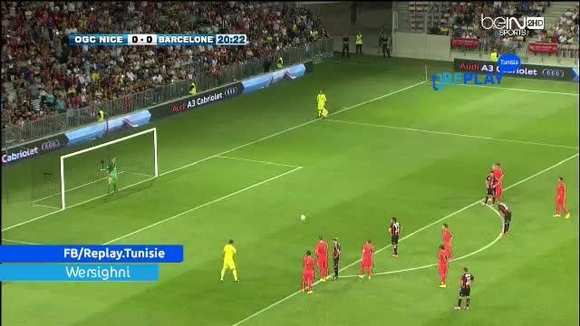 Video: OGC Nice – Barcelona (1-1), Testspiel