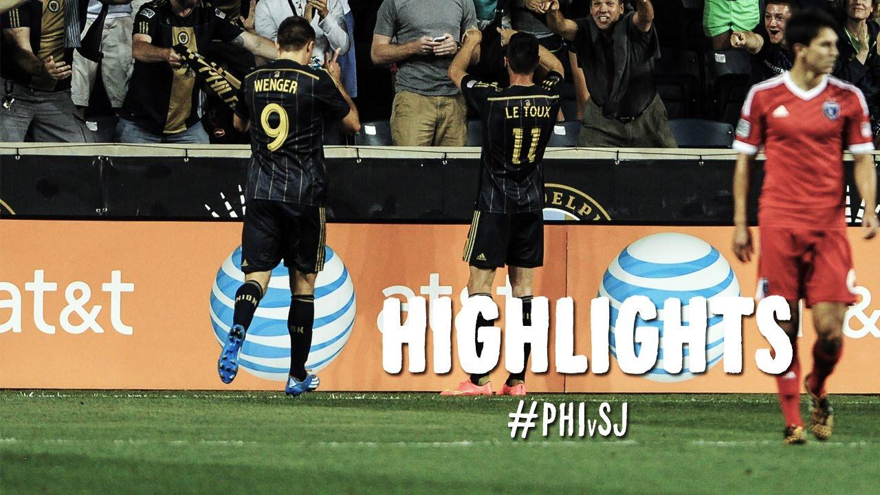Video: Philadelphia Union – San Jose Earthquakes (4-2), MLS