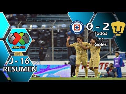 Video: Cruz Azul – UNAM Pumas (0-2), Liga MX