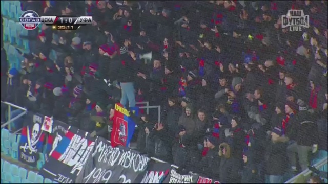 Video: ZSKA Moskau – Ufa (5-0), Premier Liga