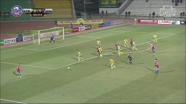 Video: Kuban Krasnodar – ZSKA Moskau (0-1), Premier Liga
