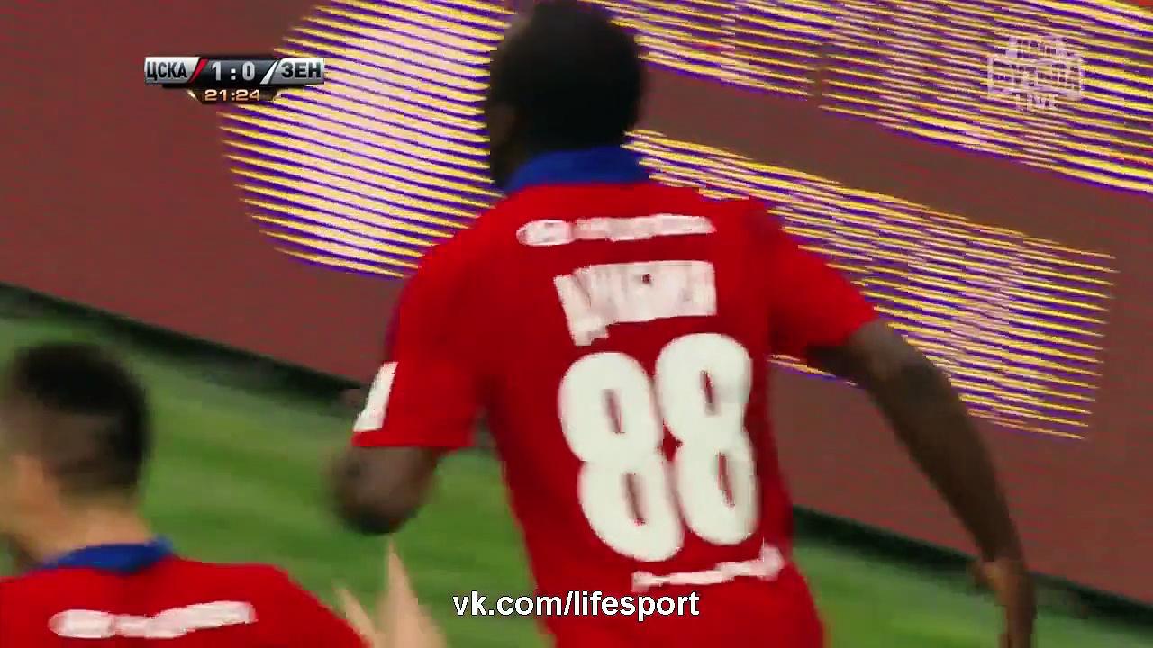 Video: ZSKA Moskau – Zenit (2-2), Premier Liga